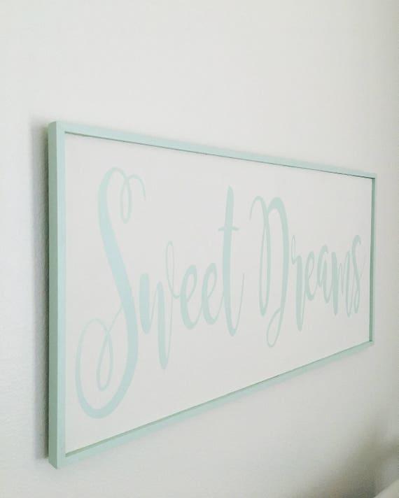 Sweet Dreams Handmade Wood Sign