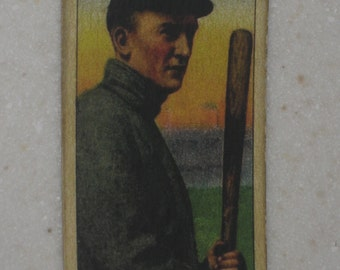 1909/10 T206 Ty Cobb Holding Bat Sweet Caporal Back