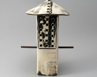 Bird Feeder, Textured Stoneware