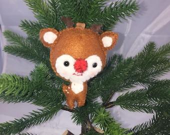 Felt Reindeer Ornament
