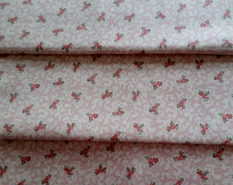 """Covington Fabric, """"Caitlin"""" Pattern, Small Rose Pattern, Medium Weight Cotton, 1 Yd X 54"""" Wide, New fabric"""