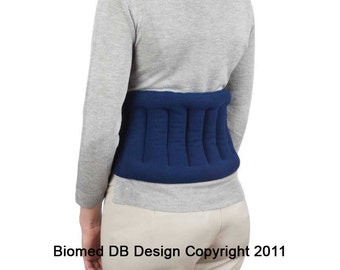 Microwavable Lower Back Heating Wrap With Straps, Great For Shoulder Joint Pain,  Moist Heat, Back Pain Relief, Back Wrap