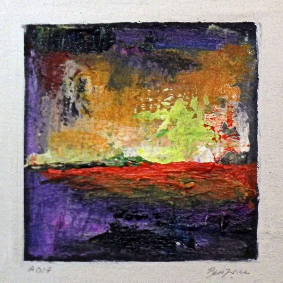 Daily Painting  A017 Small Abstract Study Painting Artwork by BenWill