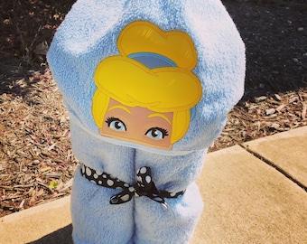 Cinderella Inspired Hooded Towel