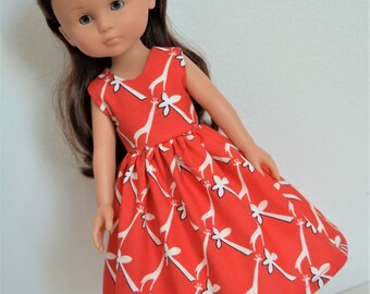 """Handmade Doll Clothes Dress fits 13"""" Corolle Les Cheries Dolls Handcraft 12"""