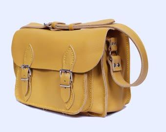 Leather satchel Medium size Leather satchel
