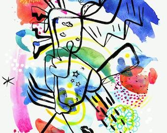 Catimini, Bright abstract print.