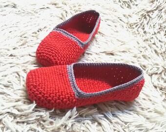 Cotton Slippers, Crochet slippers, Womens slippers, Gift for Her, Birthday gift, Women gift, elegant, light, healthy