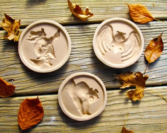 Halloween Stoneware Cookie Molds