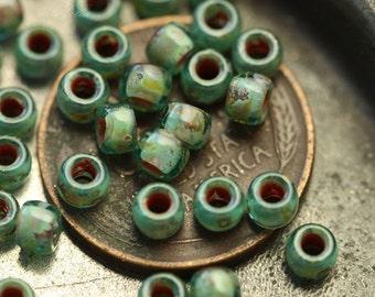 OCEANSCAPE .. 100 Premium Japanese TOHO 7/0 Seed Beads (4172-100)