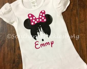 Minnie Mouse Girl's shirt, Minnie Mouse ears