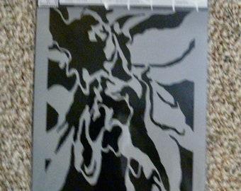 RIPPLES of IMAGINATION Skeleton laser cut stencil  9 x 12