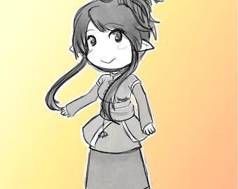Custom Art Commissions - [Chibi Sketch Greyscale]