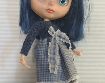 Outfit for Blythe blue with bow