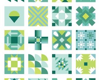 Summer Sampler 2016 PDF Quilt Pattern