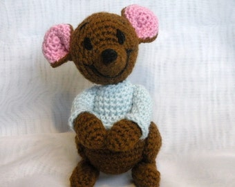 INSTANT DOWNLOAD - PDF - Roo the Winnie the Pooh's friend - 8 inches amigurumi doll crochet pattern
