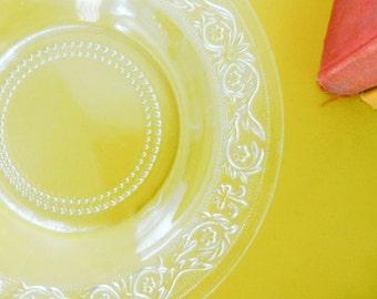 Glass serving bowl, KIG Malaysia, fleur de lis, serving bowl, round boal, clear glass, home decor, dinner party, wedding present, housewares