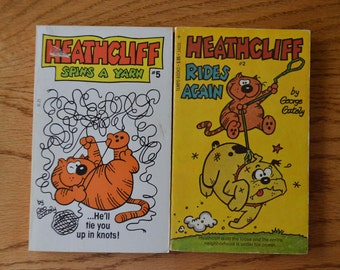 1970's Heathcliff Humor Books by George Gately