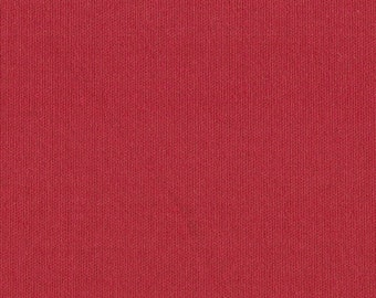 CHRISTMAS RED Cotton Interlock Knit Fabric, FQ 18 x 29 Inches