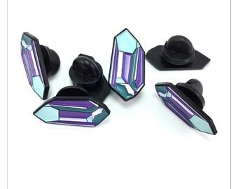 Crystal enamel lapel pin, soft enamel pin, pin, pins, lapel pin, badge, brooch