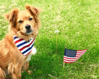 Patriotic Pet Bows and Bandanas
