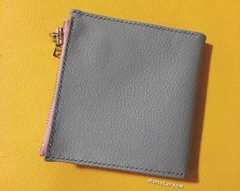 Hand stitched zipper wallet