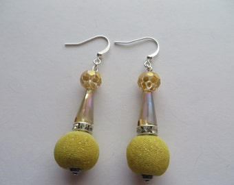 Handcrafted 925 Sterling Silver Beads Earrings Summer Trend