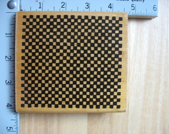 Large DOTS Checkerboard Texture DESTASH Rubber Stamp, Used Rubberstamp
