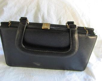 1960s Vintage Rosart Handbag In Black