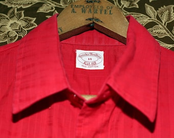 Vintage Brooks Brothers Red Cotton Short Sleeve Shirt