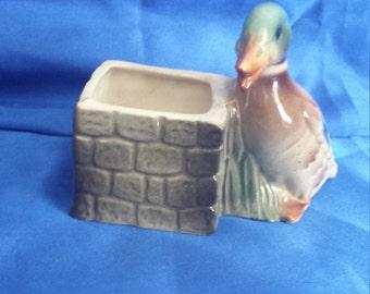 Mallard Duck Little Planter.