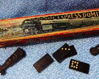 Embossing Company 1910 Double Nine dominos