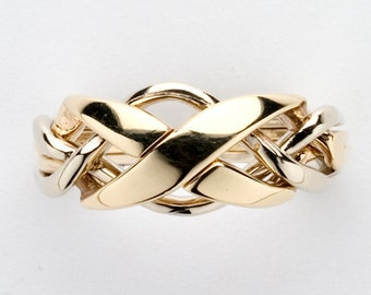 Ladies 4 Band Puzzle Ring 4NX