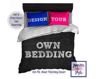 Design my own bedding - Custom Designed Monogram Bedding - Create My Own Bedding - Design Your Own Bedding - Custom Bedding Comforter Duvet