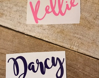 Name decal, personalized decal, name sticker, Yeti name decal