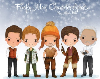 firefly man character clipart  Instant Download,PNG file - 300 dpi