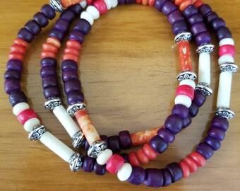 Purple and Orange Wrap