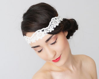 Bridal Headband Bridal Headpiece Lace Headband Retro Headband Wedding Accessories Bridal Accessories Lace Headpiece