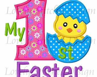 My 1st Easter  Applique Machine Embroidery Design NO:1316