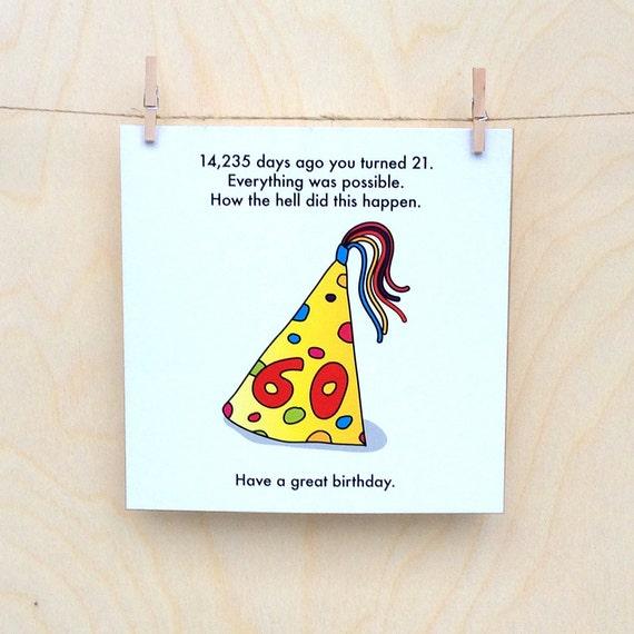 funny 60th birthday card, funny birthday card, funny 60 card.