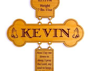 Now I lay me down to sleep Prayer - Bedtime Prayer Cross - Children Daily Prayer - Personalized Bed time Prayer for Children's Room