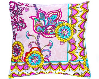 Paisley pillow, Decorative pillow, cushion cover, floral  print fabric, throw pillow, flowers, home accessories, home decor, boho cushion