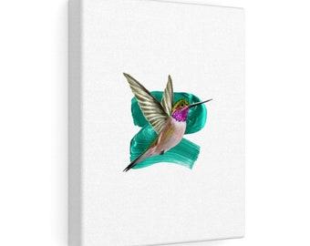 Modern Hummingbird Canvas Gallery Wraps