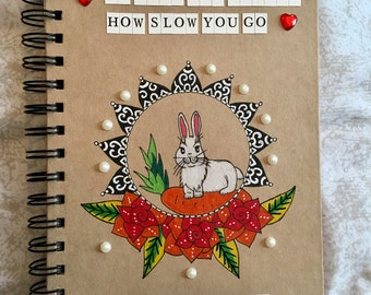 Bunny quote notebook A5