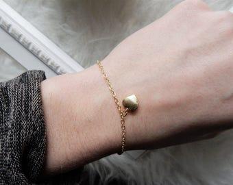 Gold Heart Bracelet   Dainty Bracelet Gold Bracelet Tiny Heart Bracelet Dainty Gold Bracelet Delicate Heart Bracelet Heart Charm Bracelet