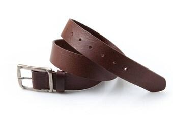 Belt brown leather struck (40mm)