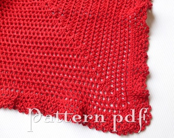 PDF Pattern - Crocheted Ruffled Edge Blanket