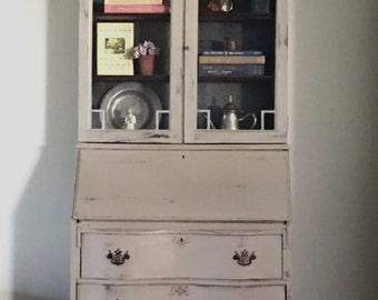 SOLD....Vintage Secretary Desk/Farmhouse Hutch/kitchen hutch/cabinet