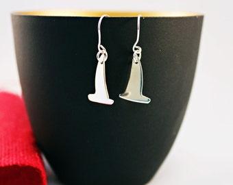 Silver Sailboat Earrings - Silver Yacht Earrings - Nautical Earrings - Sailboat Earrings - Nautical Jewelry - Beach Jewellery - Boat Earring