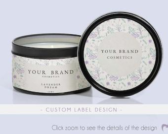 Custom cosmetic packaging for tin, Printable cosmetic favors, Custom product labels, Custom packaging, Custom labels, Custom label sticker